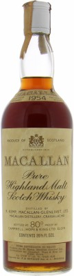 Macallan - 1954 Rinaldi Import 45.85% 1954