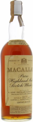 Macallan - 1953 Rinaldi Import 45.85% 1953