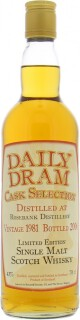25 Years Old Daily Dram Cask Selection 43%