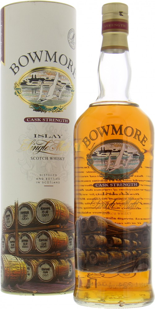 Bowmore - Cask Strength Glass Printed Label 56%