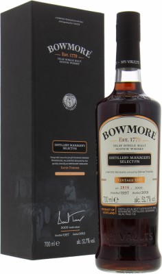Distillery Manager's Selection Casks 653-658 , 660-665 51.7%Bowmore -