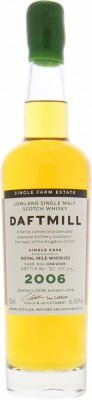 Daftmill - 12 Years old cask 044/2006 for Royal Mile Whiskies 56% 2006