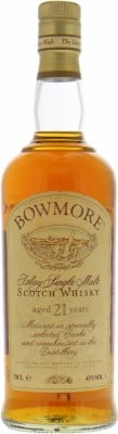 21 Years Old  white stripe on capsule 43%Bowmore -