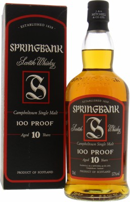 100 Proof 10 Years Old 57%Springbank -