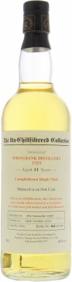 Signatory Vintage The Un-Chillfiltered Collection Cask 501 46%Springbank -