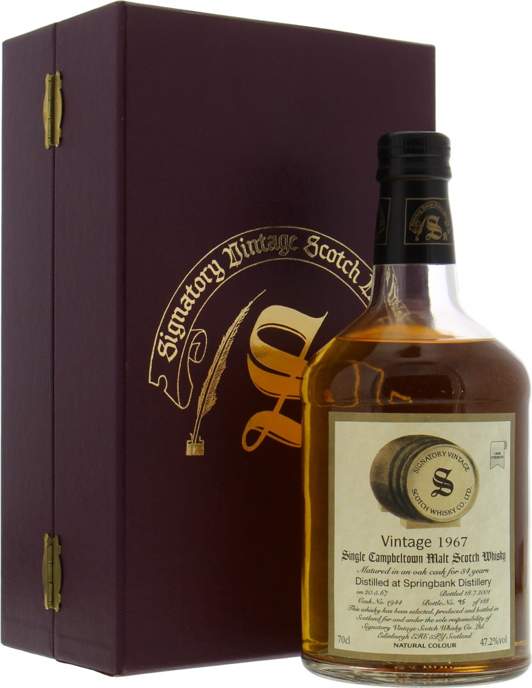 Springbank - 1967 Signatory 34 Years Old Vintage Collection Dumpy Cask 1944  1967