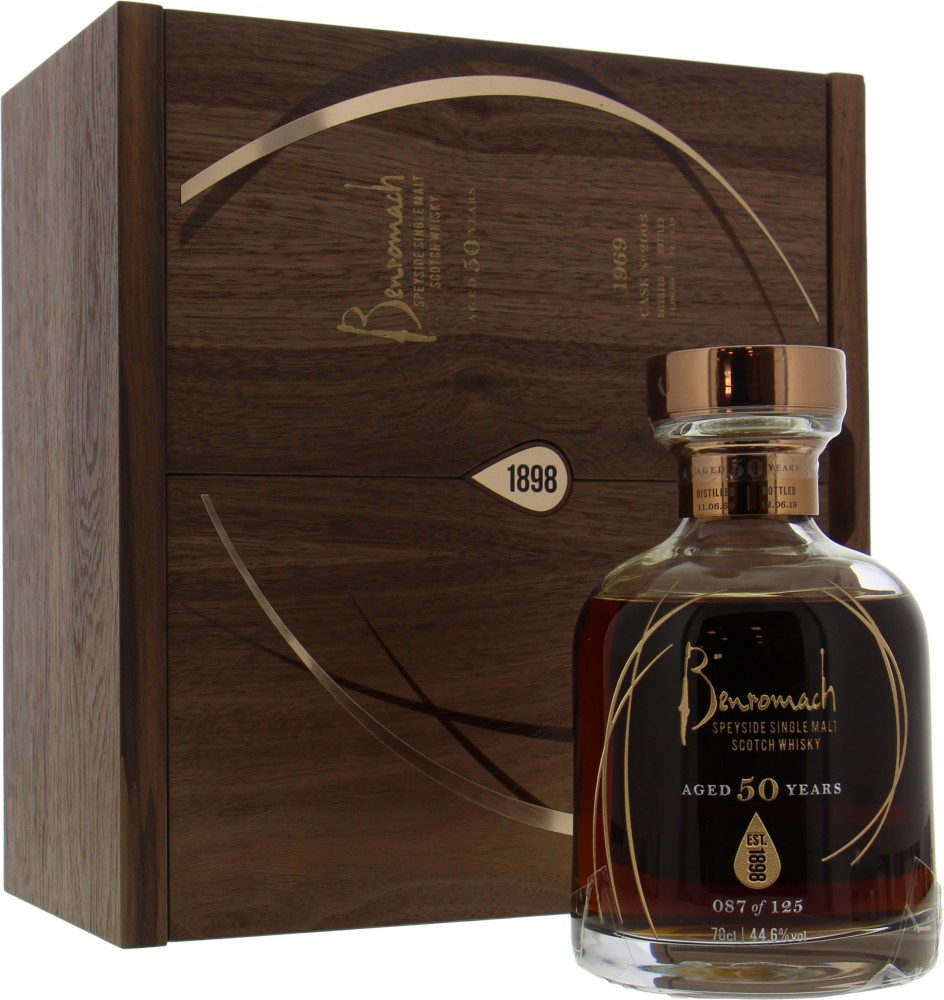 Benromach - 50 Years Old 44.6% 1969