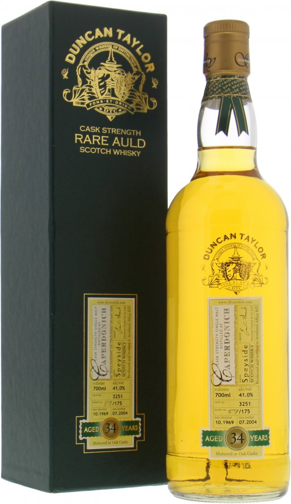 Caperdonich - 34 Years Old Duncan Taylor Rare Auld Cask 3251 41% 1969