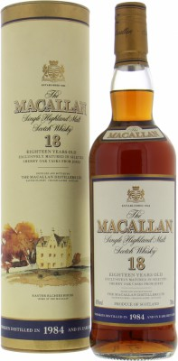 18 Years Old Vintage 1984 43%Macallan -