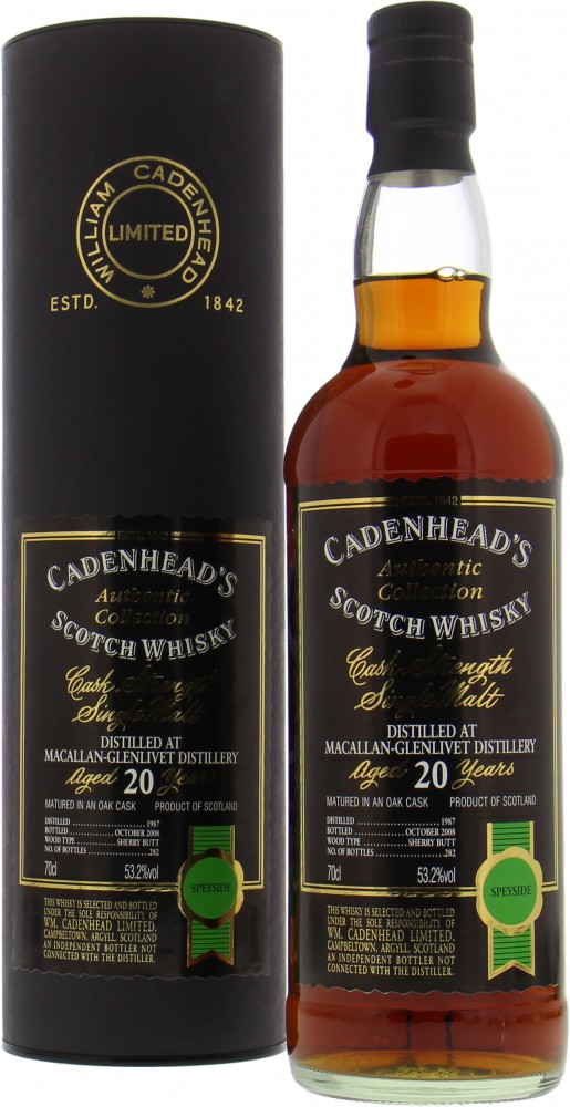 Macallan - 20 Years Old Cadenhead Authentic Collection 53.2% 1987