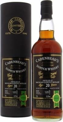 20 Years Old Cadenhead Authentic Collection 53.2%Macallan -