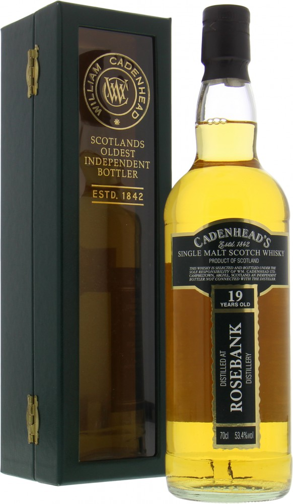 Rosebank - 19 Years Old Cadenhead Closed Distilleries 53.4%  1989