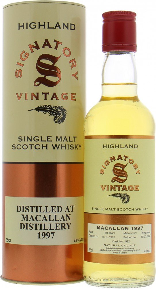 Macallan - 10 Years Old Signatory Vintage Cask 922 43% 1997