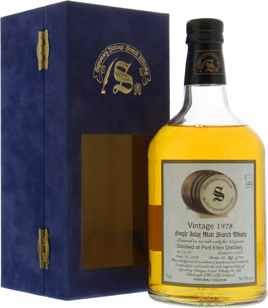 Port Ellen - 23 Years Old Signatory Vintage Dumpy Cask 5338 56.5% 1978