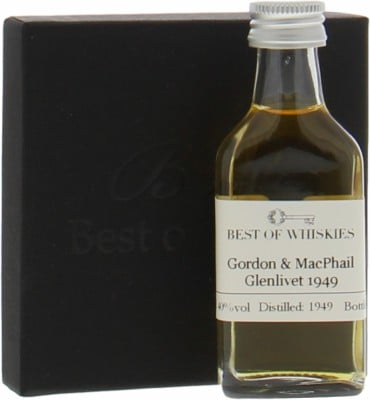 Glenlivet - 1949 George & J.G. Smith's Gordon & MacPhail All Malt Distillery Label 1949