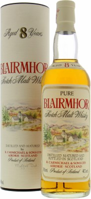 Blairmhor - 8 Years Old  Pure Scotch Malt Whisky 40% NV
