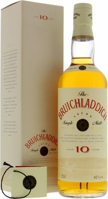 10 Years Old Cream Label Red Letters 40%Bruichladdich  -