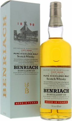 BenRiach - 10 Years Old Pure Highland Malt 43% NV