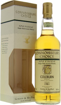 Coleburn - 25 Years Old Gordon & MacPhail 43% 1981