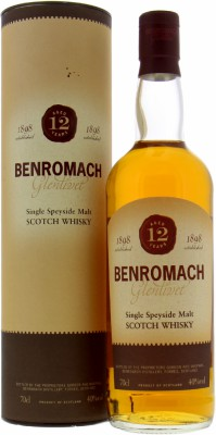 12 Years Old Label 40%Benromach -