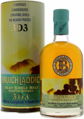 3D3 Third Edition The Norrie Campbell Tribute Bottling 46%Bruichladdich  -
