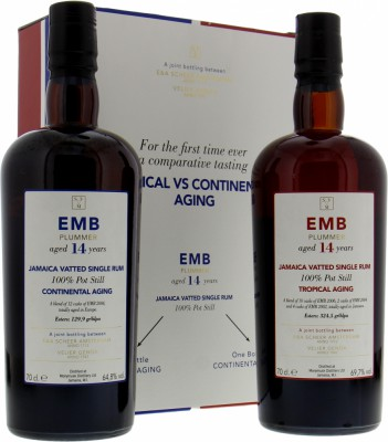 Scheer & Verlier - EMB Plummer 14 Years Old Tropical VS Continental Aging Coffret  2005