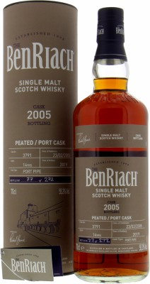 BenRiach - 14 Years Old Batch 16 Cask 3791 55.3% 2005