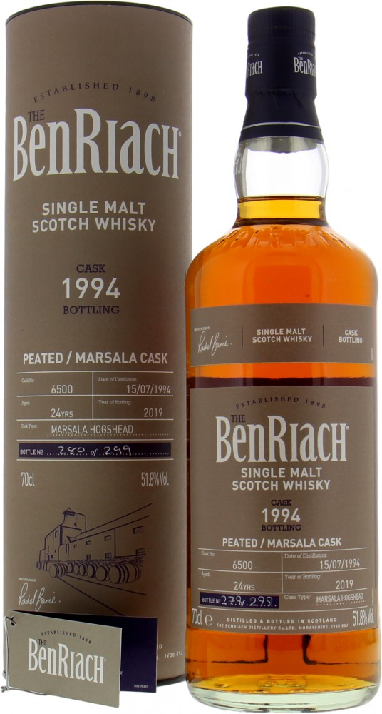 BenRiach - 24 Years Old Batch 16 Cask 6500 51.8% 1994