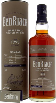 BenRiach - 25 Years Old Batch 16 Cask 7881 54.3% 1993