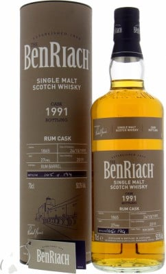 BenRiach - 27 Years Old Batch 16 Cask 1865 50.3% 1991