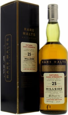 Hillside - 25 Years Old Rare Malts Selection 61.1% 1970