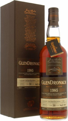 Glendronach - 30 Years Old  Single Cask Batch 14 Cask 1037 52.3% 1985