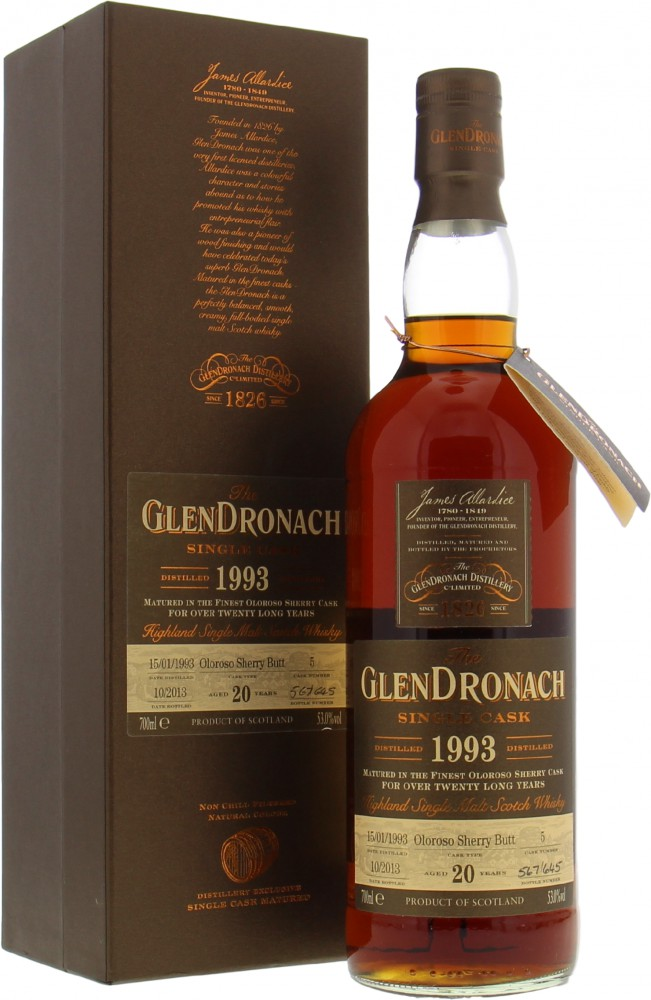 Glendronach - 20 Years Old  Single Cask Batch 9 Cask 5 53% 1993