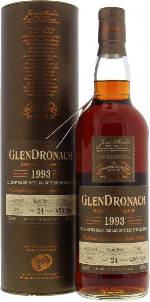 Glendronach - 24 Years Old Single Cask 660 59.2% 1993