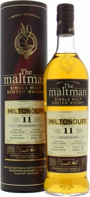Miltonduff - 11 Years Old The Maltman Cask 5983 50.5% 2008