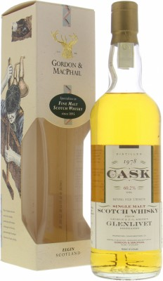 Glenlivet - 18 Years Old Cask Strength Gordon & MacPhail Cask 16419-16423 60.2% 1978