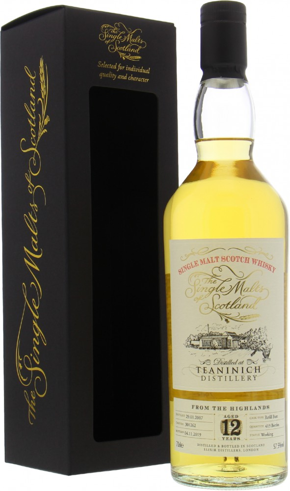 Teaninch - 12 Years Old The Single Malts of Scotland Cask 30162 57.5% 2007