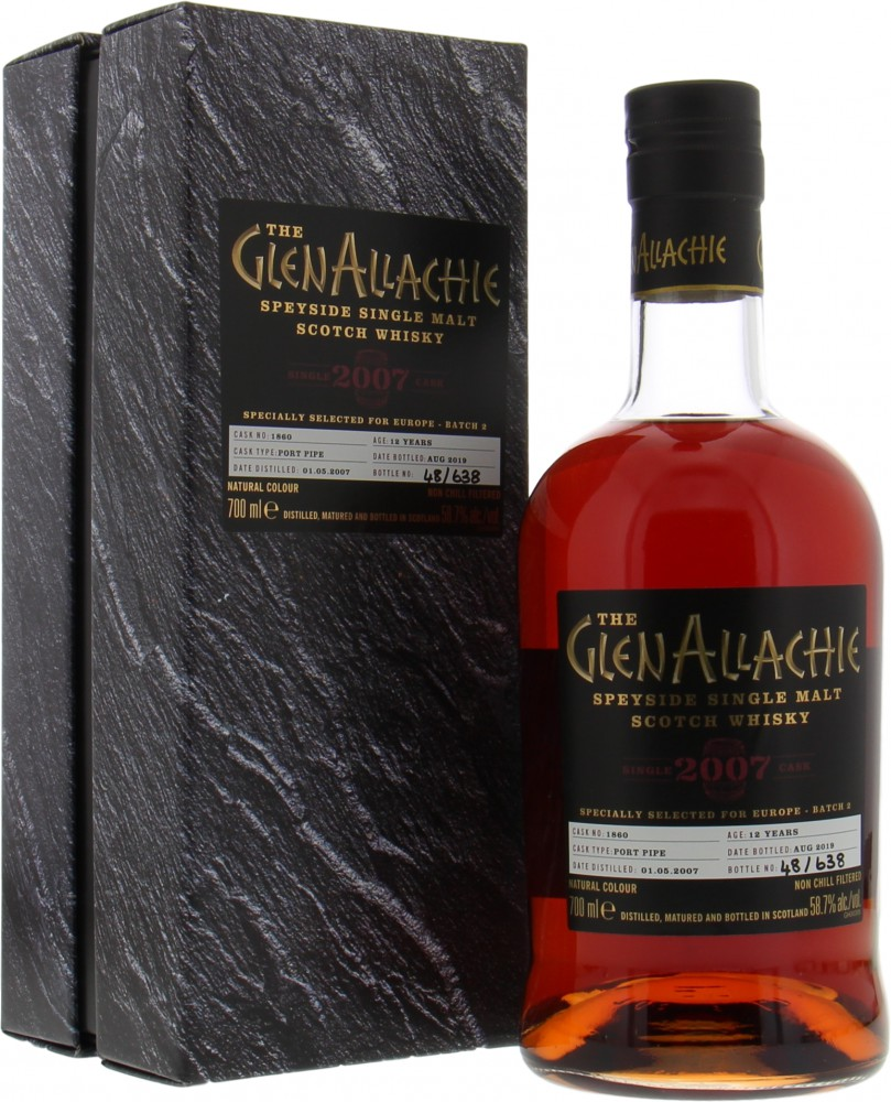 Glenallachie - 12 Years Old Single Cask for Europe Batch 2 Cask 1860 58.7% 2007