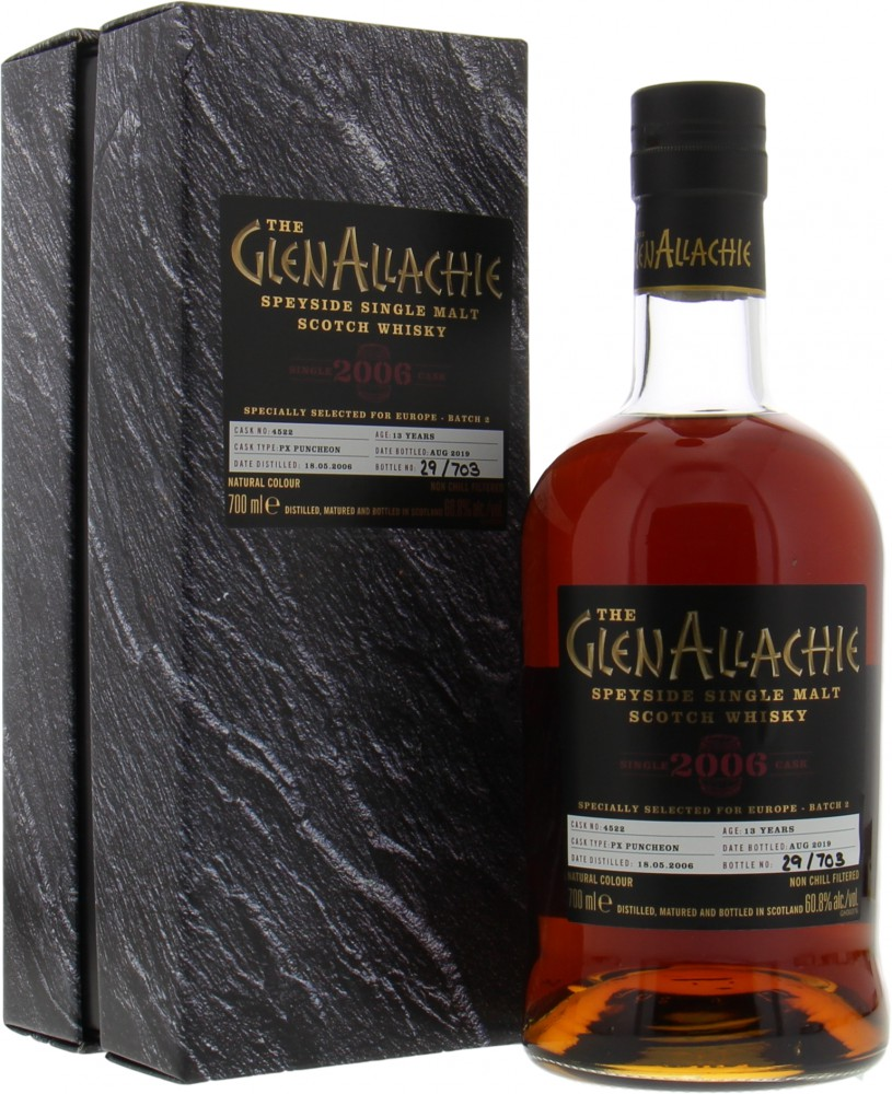 Glenallachie - 13 Years Old Single Cask for Europe Batch 2 Cask 4522 60.8% 2006