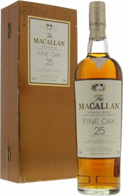 Macallan - 25 Years Old Fine Oak Bottled New Label 43% NV