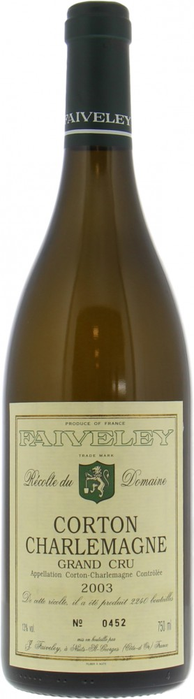 Faiveley - Corton Charlemagne 2003