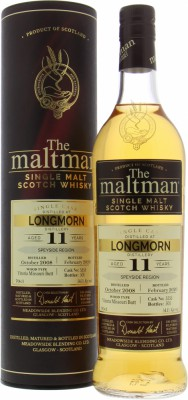 Longmorn - 11 Years Old The Maltman Cask 5555 54.1% 2008