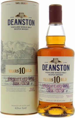 Deanston - 10 Years Old  Bordeaux Red Wine Cask Finish 46.3% NV