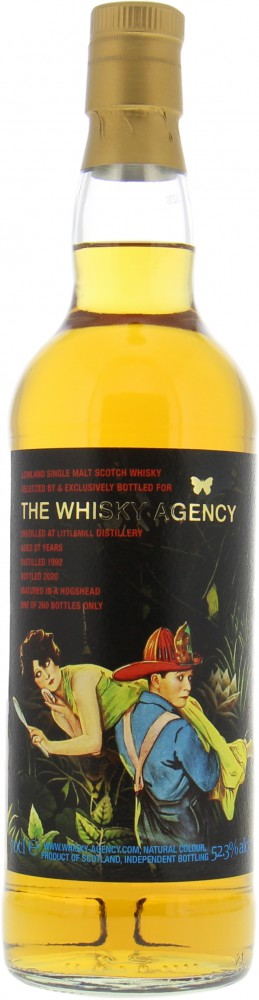 Littlemill - 27 Years Old The Whisky Agency 52.3% 1992