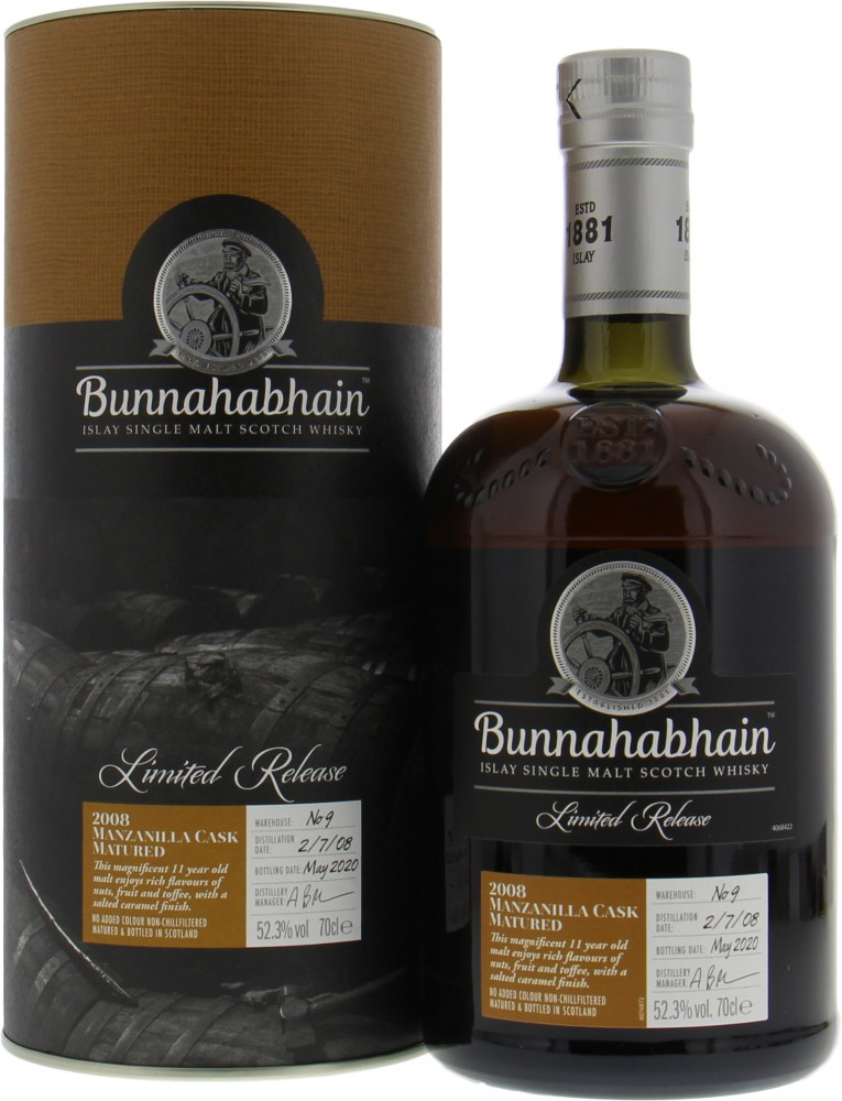 Bunnahabhain - Limited Edition Manzanilla Cask Matured 52.3% 2008