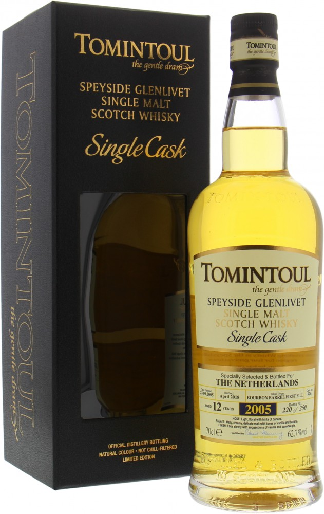 Tomintoul - 12 Years Old Cask 9261 Bottled for The Netherlands 62.7% 2005