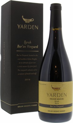 Golan Heights Winery  - Yarden Bar'on Syrah 2016