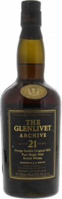 Glenlivet - 21 Years Old Archive Distillers Limited Edition 43% NV