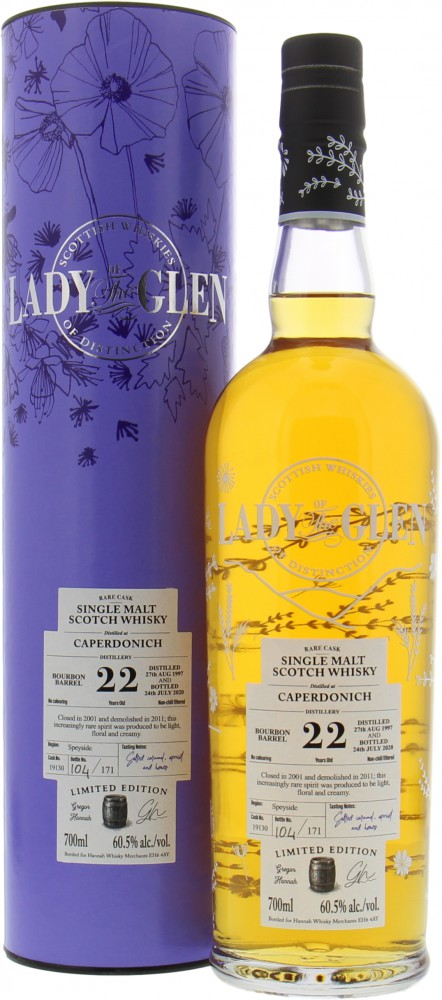 Caperdonich - 22 Years Old Lady of the Glen Cask 19130 60.5% 1997