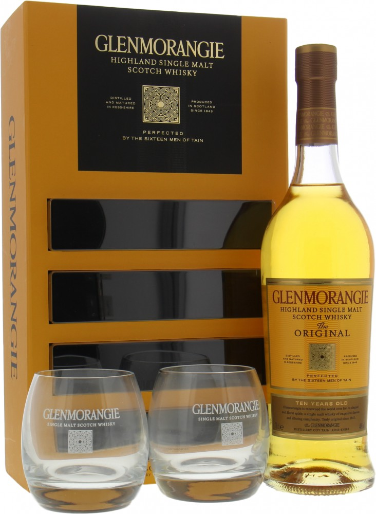 Glenmorangie - The Original 10 Years Old Coffret with 2 Glasses 40% NV